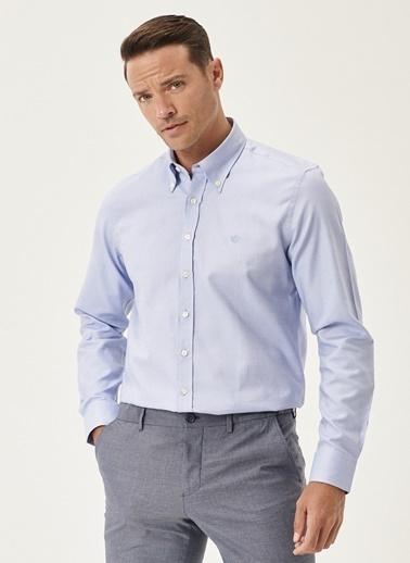 Beymen Business Slim Fit Gömlek 4B2000000050 Mavi